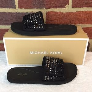 cdeafd6a33c0 Michael Kors Shoes - Michael Kors Scuba Hot Fix With Rhinestone Slides